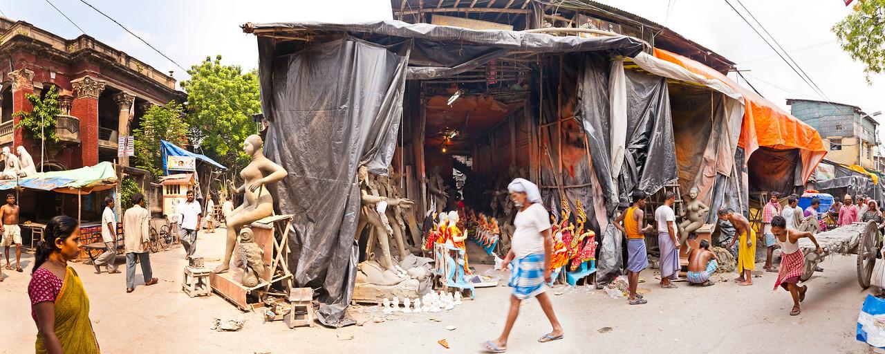 Kolkata Street Corner - Bonomali Sarkar Street and Gopeshwar Pal Street