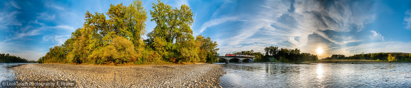 Golden autumn day at River Aare