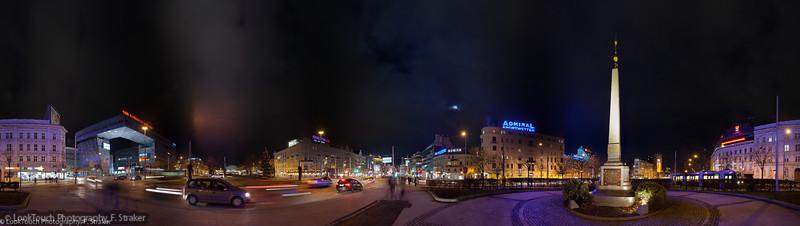 Europaplatz by night