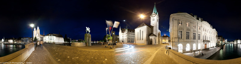 Zürich Street Corner - Stadthausquai / Wühre and Münsterbrücke / Münsterhof