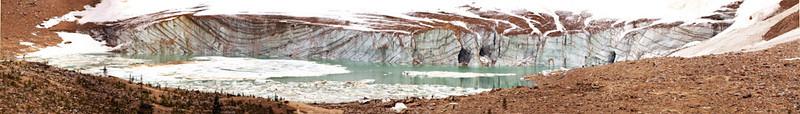 Glacier at base of Mt.Edith Cavell