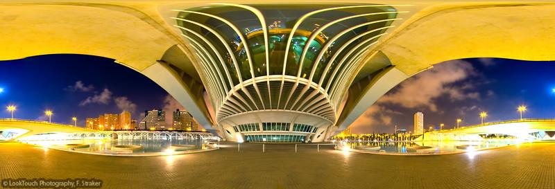 Main entrance Palacio de las Artes Reina Sofía, Valencia