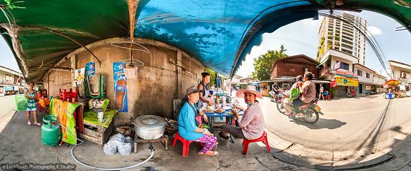 Street food vendor in a quiet neighbourhood.