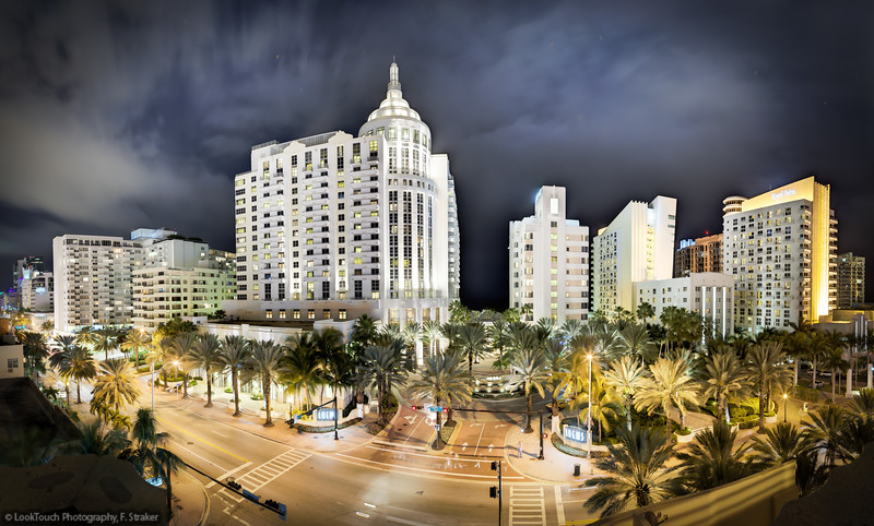 Loews and Royal Palm hotel, Collins Ave., Miami Beach
