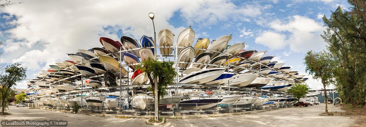 Boat racks at Rickenbacker Marina, Miami