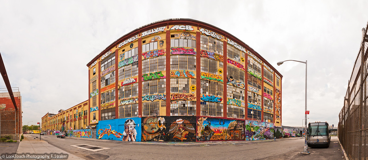 """5 pointz (Crane St. view)<br /> The """"Institute of Higher Burnin"""" or the """"5Pointz Aerosol Art Center, Inc."""" is an outdoor art exhibit space in Long Island City, New York, considered to be the world's premiere """"graffiti Mecca,"""" where aerosol artists from around the globe paint colorful pieces on the walls of a 200,000-square-foot (19,000 m2) factory building. The complex owned by Long Island developer Jerry Wolkoff is supposed to be teared down in Sept. 2013 to make room for two 40+ story residential towers."""