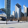 Chicago's Skyline from Millennium Park - featuring the Cloud Gate (Big Shiny Bean) - I took this one on a road trip with my friends Gina and Doug to Chicago and back - we left January first and ended up sleeping in the car in Walmart parking lots, but we made it from NH/MA to Chicago and back in four days and had a ton of fun doing it despite the cold.  This spot, Cleveland, and Niagara Falls are all tied for the coldest on that trip - my hands were frozen from taking pictures!