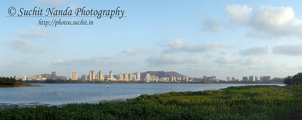 View of Hiranandani Gardens across the Powai Lake in Mumbai, India.   http://photos.suchit.in/photos/143590276-O.jpg