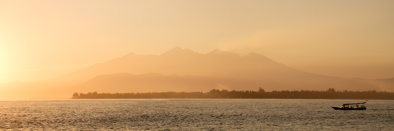Gili Air and Lombok at sunrise