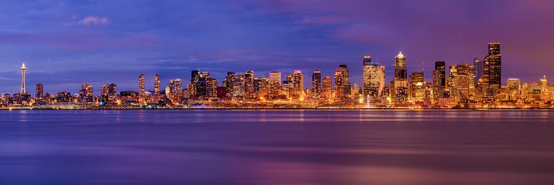 Holiday Seattle Skyline