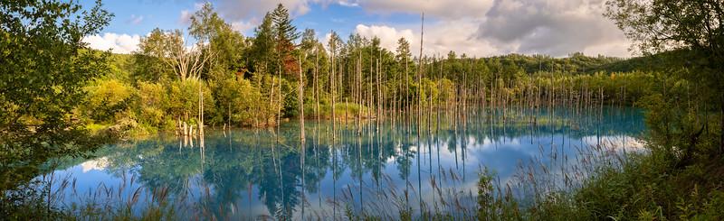 Shirogane Blue Pond, Hokkaido, Japan