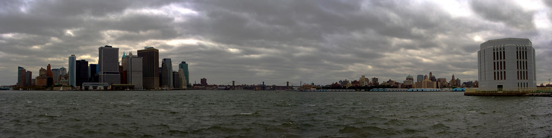 New York City Panorama View from Governors Island