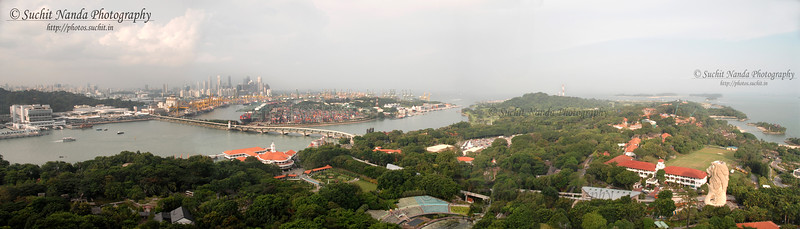 Panoramic view of Singapore from Sentosa Island, Singapore.  To see a larger sized image click on:  http://photos.suchit.in/photos/388788602_oSWWj-O.jpg