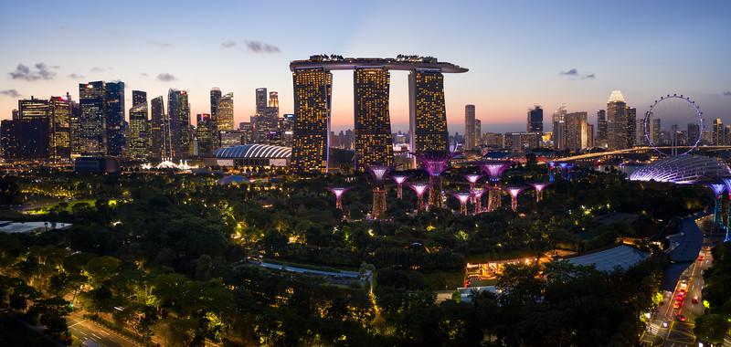 Marina Bay Garden & Marina Bay Sands Hotel, Singapore