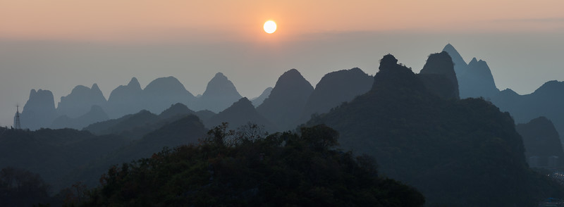 Hill range, Guilin, China