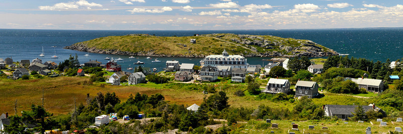 Overlooking Monhegan Island Village