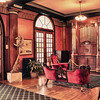 HDR of elegant interior of famous Crescent Hotel (built in 1886) in Eureka Springs, Arkansas. Hotel is said to be haunted.