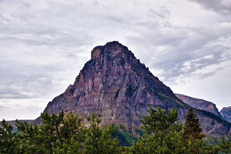 HDR image of Sinopah mountain in the Two Medicine area of Glacier National Park in Montana.