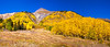 Panorama of Autumn Color on the Million Dollar Highway (US 550) in Colorado.