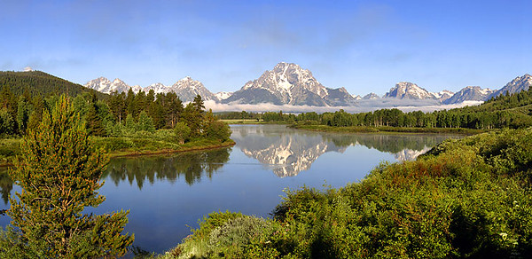 "Grand Teton National Park - Oxbow Bend of the Snake River <BR><BR>Want to buy a print of this image?  Click <a href=""http://www.langfordphotography.com/For-Sale/New-Site-Panormaics/9004552_h7zw9H"">Here</a>!"