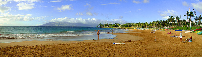 "Maui Hawaii - Wailea Beach <BR><BR>Want to buy a print of this image?  Click <a href=""http://www.langfordphotography.com/For-Sale/New-Site-Panormaics/9004552_h7zw9H"">Here</a>!"