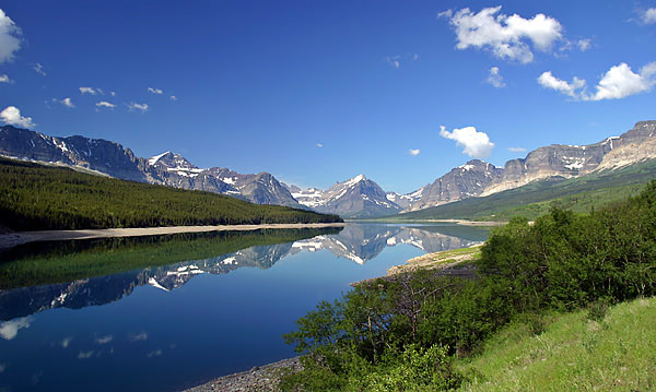 "Glacier National Park - Lake Sherburne Reflection <BR><BR>Want to buy a print of this image?  Click <a href=""http://www.langfordphotography.com/For-Sale/New-Site-Panormaics/9004552_h7zw9H"">Here</a>!"