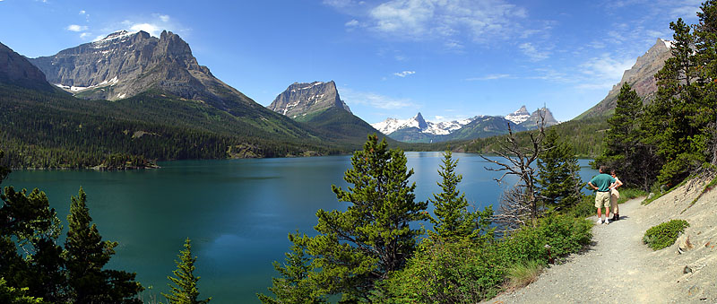 "Glacier National Park - St Mary Lake <BR><BR>Want to buy a print of this image?  Click <a href=""http://www.langfordphotography.com/For-Sale/New-Site-Panormaics/9004552_h7zw9H"">Here</a>!"