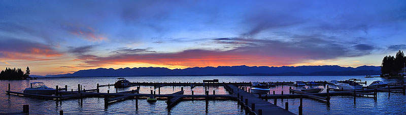 """Montana - Flathead Lake Sunrise <BR><BR>Want to buy a print of this image?  Click <a href=""""http://www.langfordphotography.com/For-Sale/New-Site-Panormaics/9004552_h7zw9H"""">Here</a>!"""
