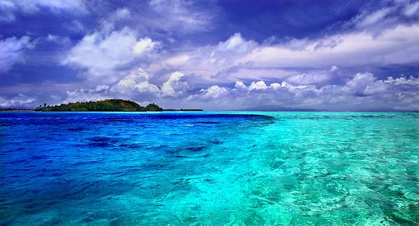 Blue  on Blue      Bora Bora, Tahiti