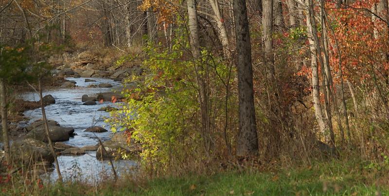 Bucolic creek in Autumn, Springtown, PA