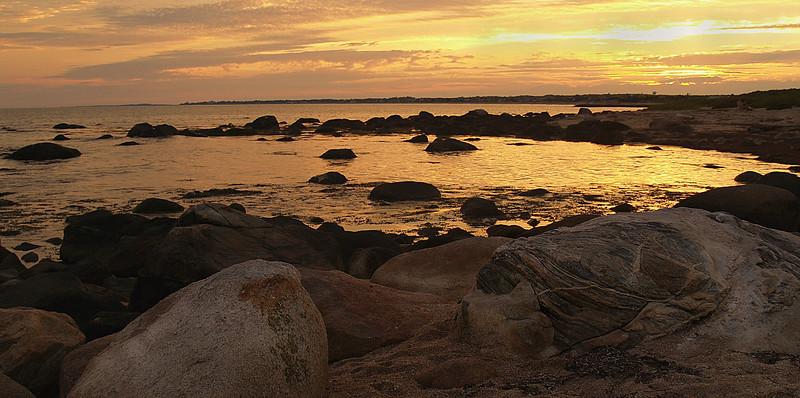 Weekapaug Beach RI Sunset, looking Southwest