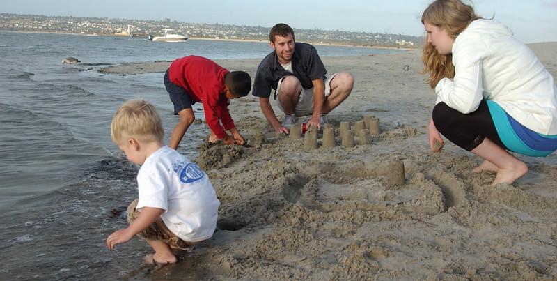 Trudy & Bryan with nephews, Mission Bay Park, San Diego