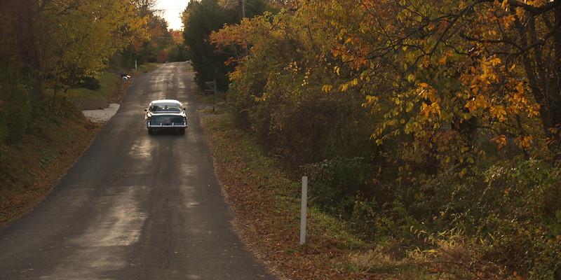 Vintage car on Autumn day near Hellertown