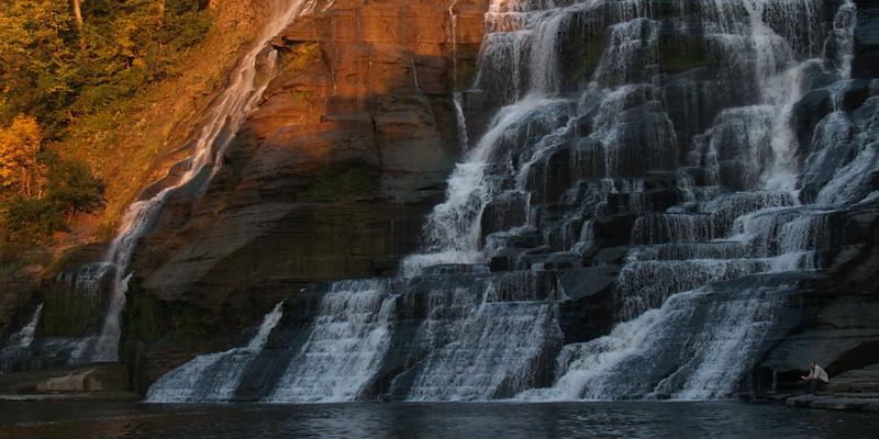 Sunlight and Shadow at Ithaca Falls, NY