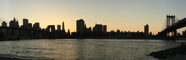 NYC Skyline w/Brooklyn & Manhattan Bridge 13x40