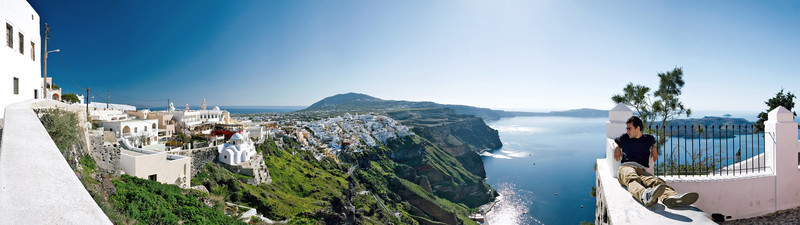 <b><font>Santorini | Greece</font></b> View of a winter silent Santorini