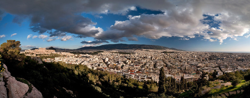 <b><font>Athens | Greece</font></b> Wide angle view from the Philopappos Hill