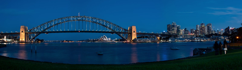 "<b><font>Sydney | Australia</font></b> The ""Coathanger"" framing the Opera House"