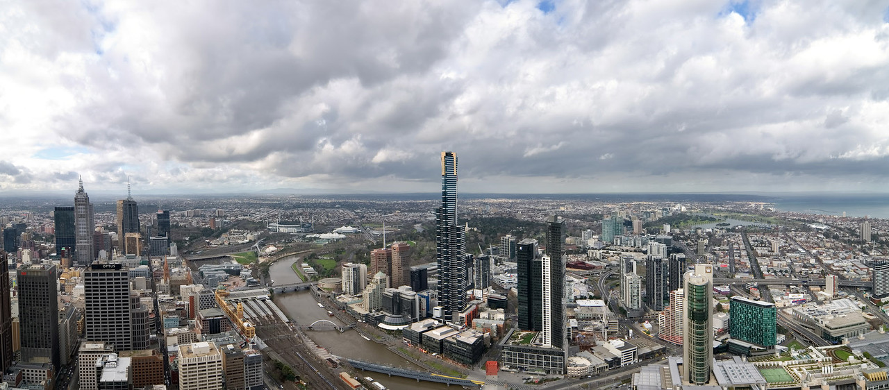 <b><font>Melbourne | Australia</font></b> Aerial panorama of the second biggest Aussie city