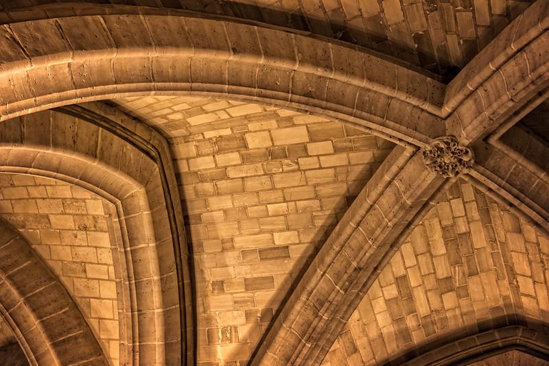 Conciergerie Arches - details (Paris, France)