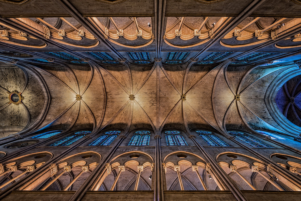 Notre Dame Cathedral - The Arched Roof (Paris, France)