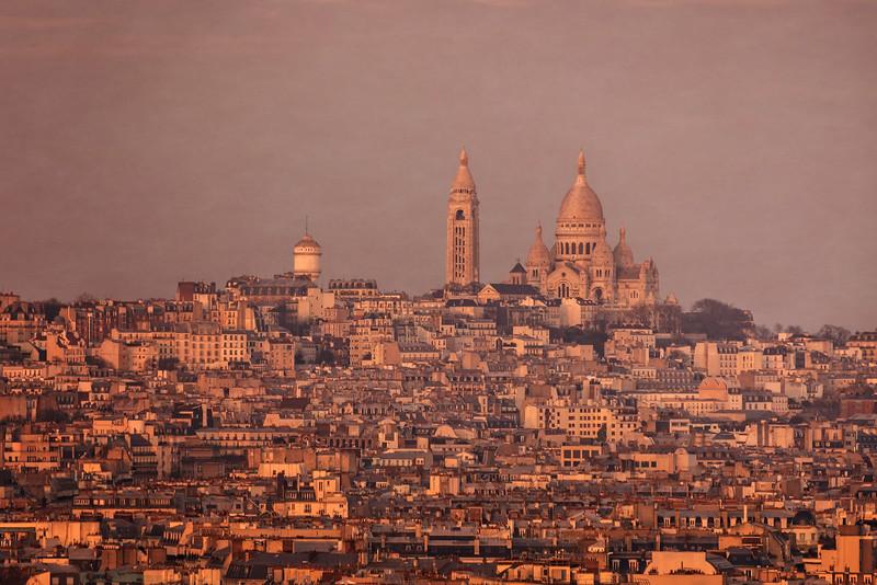 Montmartre at Sunset (Paris, France)