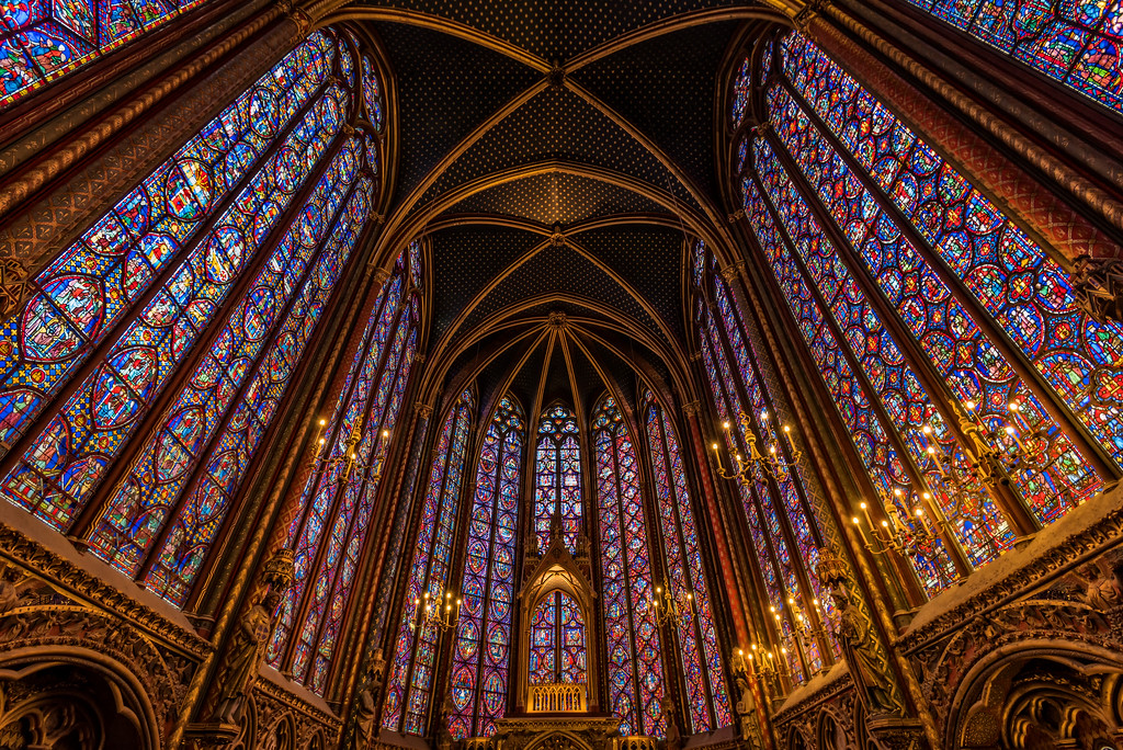 Stained Glass of Sainte Chapelle (Paris, France)
