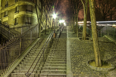 Stairs To Sacre Coeur Stairs To Sacre Coeur