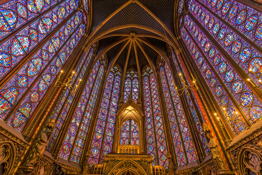 Inside Sainte-Chapelle (Paris, France)