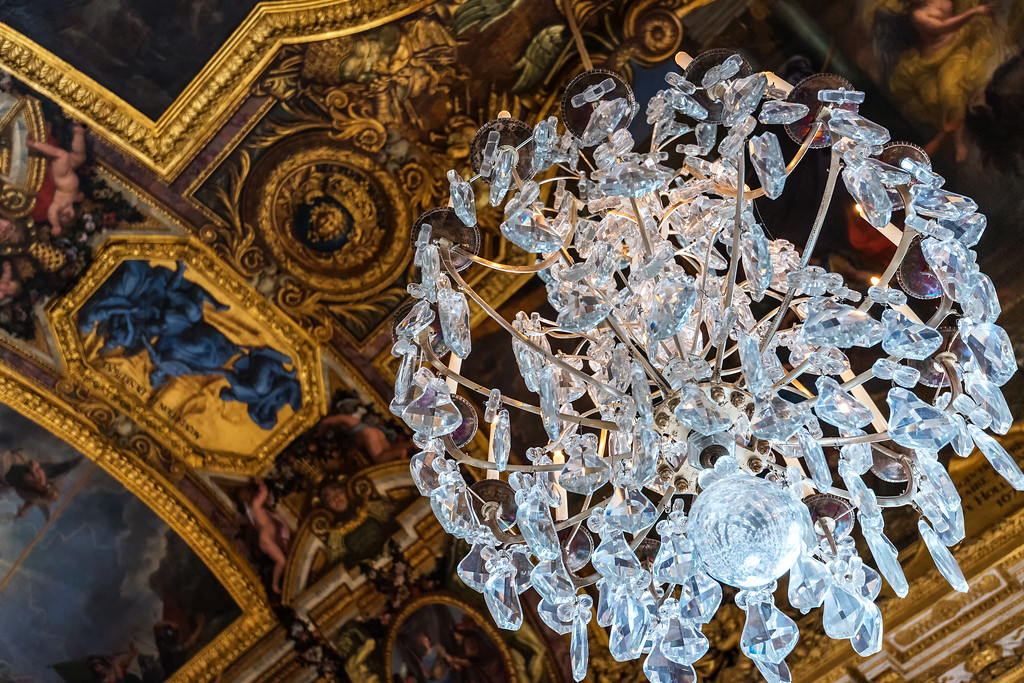 Chandelier at Versailles (Paris, France)