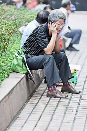 42) 	Man on Phone
