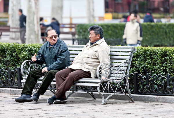 33) 	Two Men on Bench