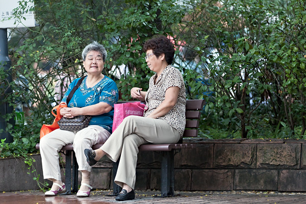 34) 	Two Women on Bench