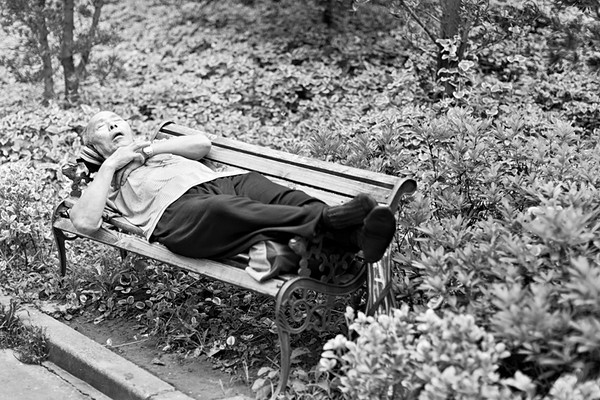 40) 	Asleep On Bench 2